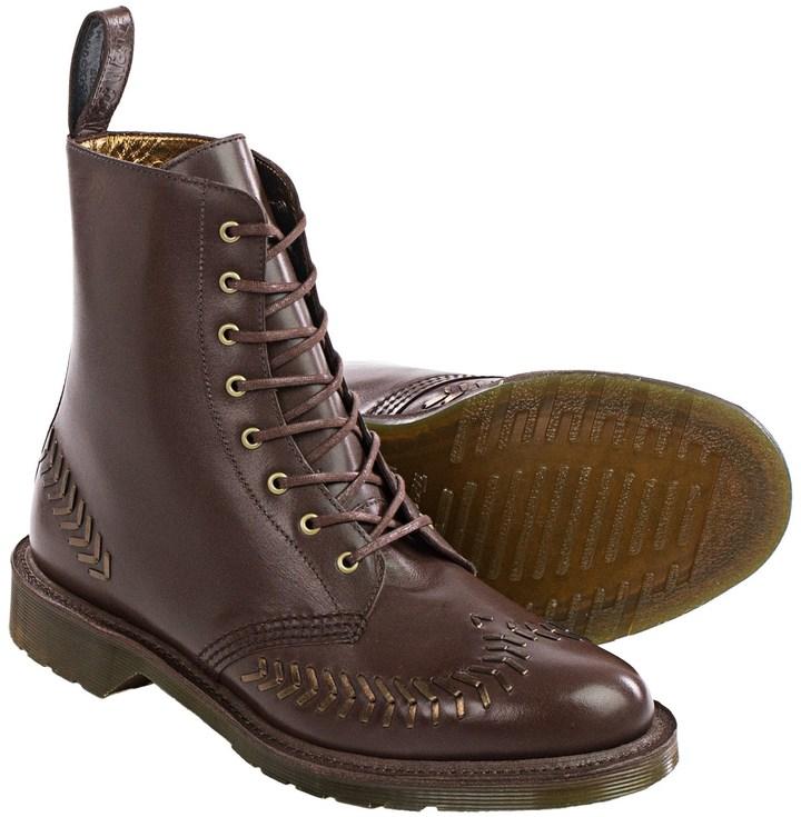 Dr. MartensDr. Martens Olive Leather Boots (For Women)