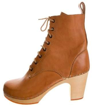 Swedish Hasbeens Leather Mid-Calf Boots Leather Mid-Calf Boots