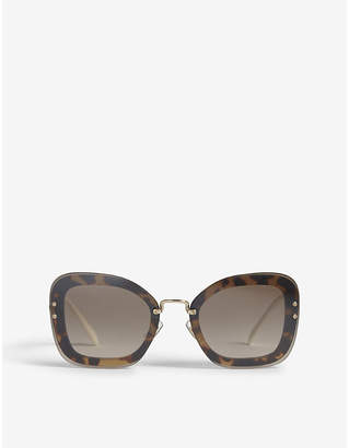 Miu Miu Mu02TS oversized square-frame sunglasses