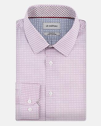 Le Château Check Print Stretch Cotton Athletic Fit Shirt