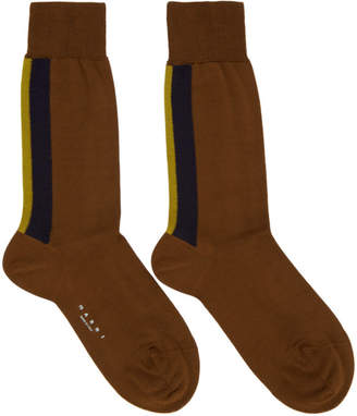 Marni Brown Striped Socks