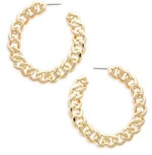 Kenneth Jay Lane Chain Link Hoop Earrings