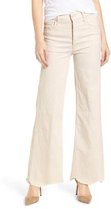 Mother The Tomcat Chew Ripped High Waist Flare Jeans