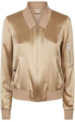 Elie Tahari Brandy Silk Bomber Jacket