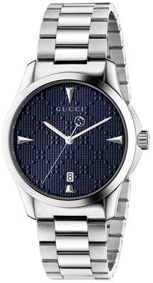 Gucci Men's G-Timeless Bracelet Watch, Blue/Silver