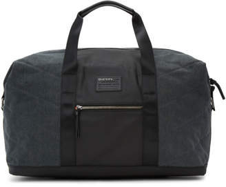 Diesel Black and Indigo D-V-Denim Duffle Bag