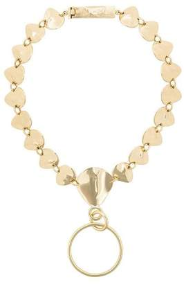 Cornelia Webb organic brass hoop necklace