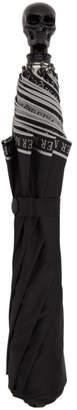 Alexander McQueen Black Selvedge Skull Umbrella