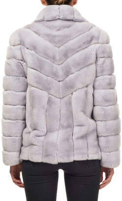 Gorski Button-Down Rabbit Fur Jacket