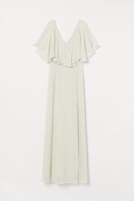 H&M Long Chiffon Dress - Green
