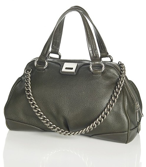 Celine Women's Grained Leather Boston Satchel