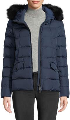 Herno Down Coat w/ Detachable Fur & Hood