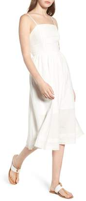 BP Lace Trim Midi Dress
