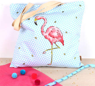 Milly Green Tropical Flamingo Extra Large Shopper