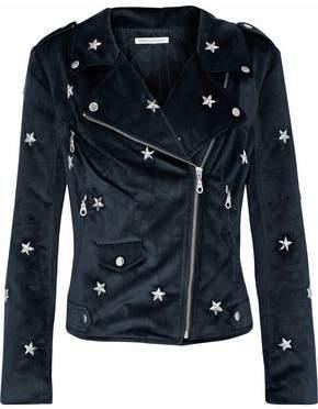 Rebecca Minkoff Studded Velvet Biker Jacket