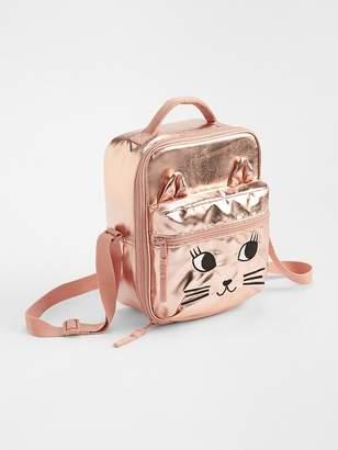 Gap Metallic Cat Lunchbox