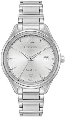 Citizen Women's Chandler Silver Dial Stainless Steel Watch, 37mm