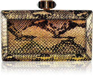 Judith Leiber Couture Elaphe Snakeskin Clutch