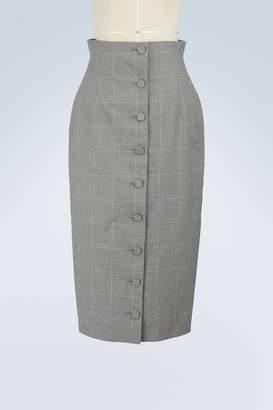 Off-White Off White Checked skirt