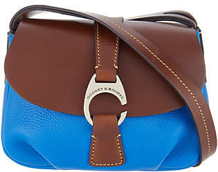 Dooney & Bourke Leather Small Flap CrossbodyHandbag - Derby