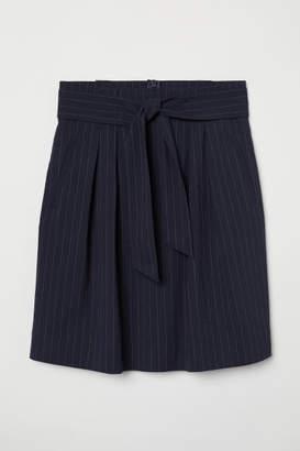H&M Skirt with Tie Belt - Blue