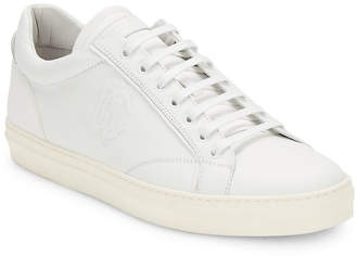 Roberto Cavalli Lace-Up Leather Sneaker