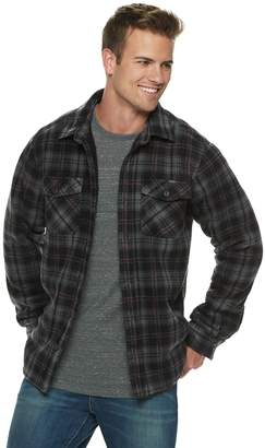Hemisphere Men's Plaid Sherpa-Lined Shirt Jacket