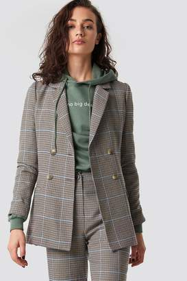 Olsen Astrid X Na Kd Double Buttoned Blazer Checked
