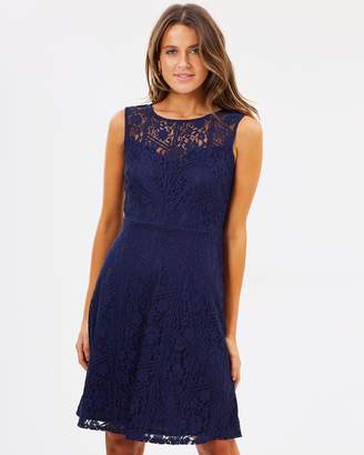 Wallis Geo Lace Fit-and-Flare Dress