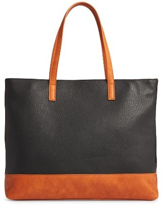 Sole Society Aurelai Colorblock Faux Leather Tote - Black $64.95 thestylecure.com