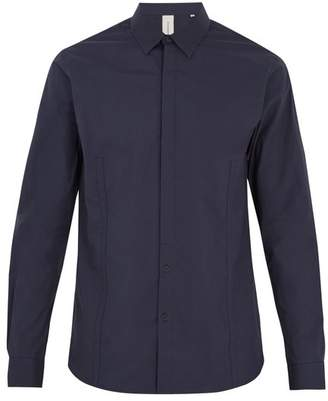 Sørensen Srensen - Driver Point Collar Cotton Blend Shirt - Mens - Navy