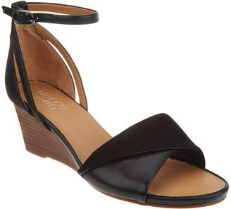 Franco Sarto Ankle Strap Wedge Sandals - Dierdra