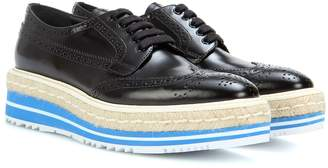 Prada Wingtip leather brogues