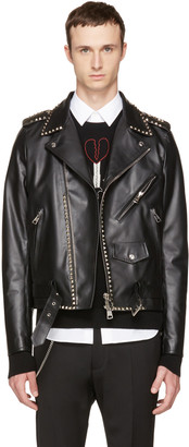 Valentino Black 'Rockstud Untitled' 20 Leather Jacket $4,900 thestylecure.com