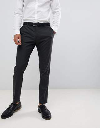 Jack and Jones Slim Fit Charcoal Plain Suit Pants