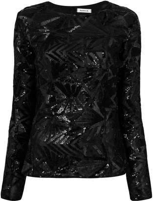 P.A.R.O.S.H. sequin blouse