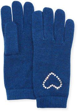Portolano Crystal Heart Cashmere Gloves