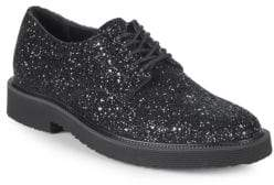 Giuseppe Zanotti Leather Glitter Derby Shoes