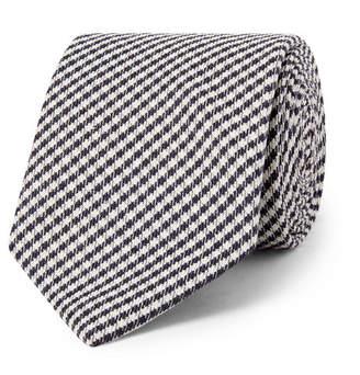 Drakes Drake's 8cm Checked Silk Tie