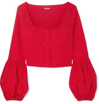MONICA STAUD Stretch-cotton Poplin Top - Red