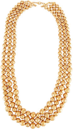 Lydell NYC Triple-Row Statement Necklace, Golden