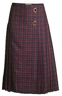 Burberry Women's Arroux Long Plaid Midi Kilt