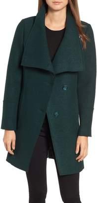 Halogen Boiled Wool-Blend Asymmetrical Coat