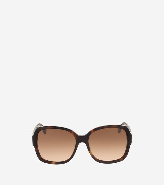 Cole Haan  Square Acetate Sunglasses