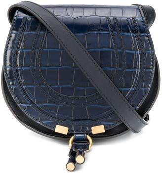 Chloé Marcie crocodile-effect shoulder bag