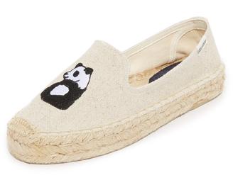 Soludos Panda Platform Smoking Slippers $85 thestylecure.com