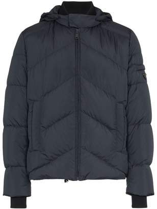 Prada Chevron quilted feather down jacket