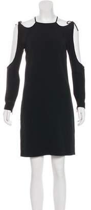 Tom Ford Velvet-Trimmed Cutout Dress
