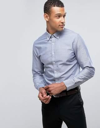 MANGO (マンゴ) - Mango Man Oxford Shirt In Blue