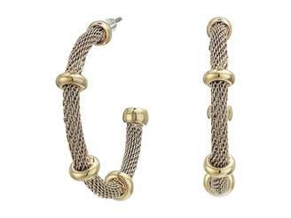 Lauren Ralph Lauren 28 Millimeter Mesh Hoop Earrings